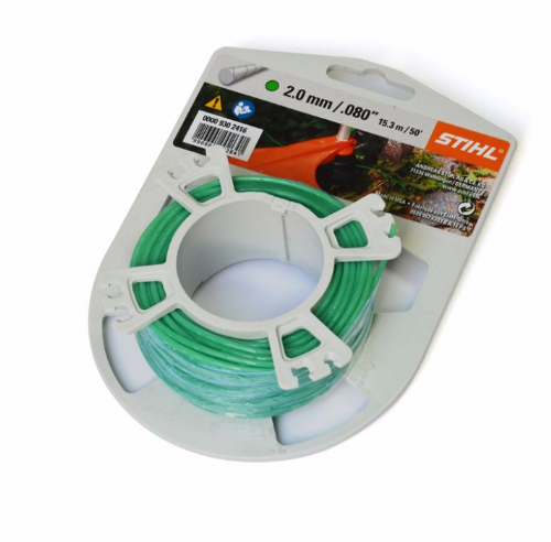 Genuine Stihl Trimmer line ROUND and QUIET (GREEN) 2.0mm x 15.3M Product Code 0000 930 2416